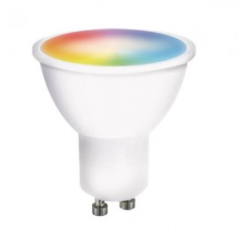 LED SMART WIFI žárovka, GU10, 5W, RGB, 400lm