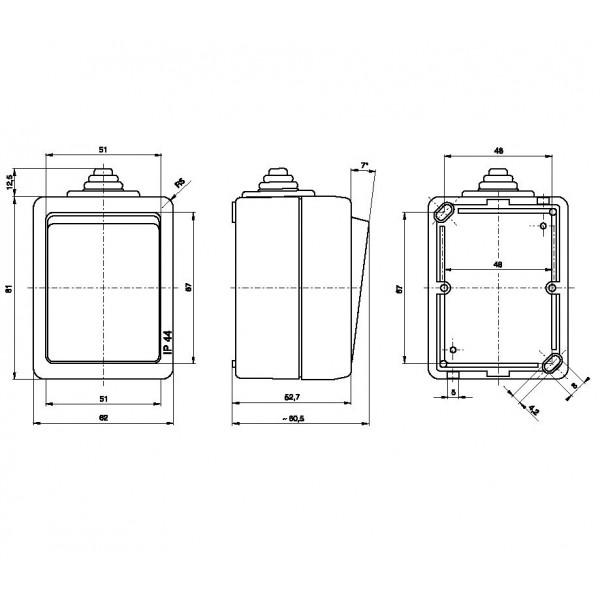 Propojovací lišta na jističe 12 modulů třífázová
