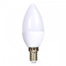 Solight LED žárovka, svíčka, 6W, E14, 6000K, 450lm - studená bílá