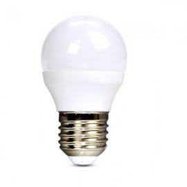 Solight LED žárovka, miniglobe, 6W, E27, 3000K, 510lm - teplá bílá