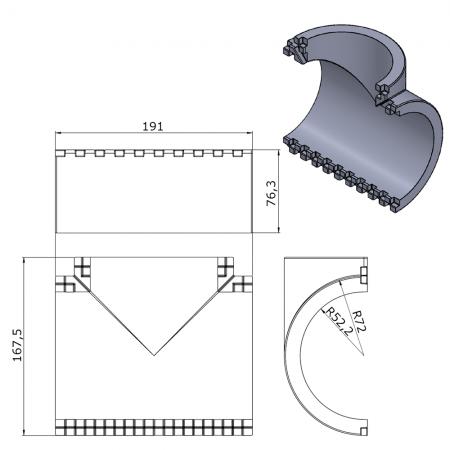 Zásuvka 380V Bals 132002 5x32A/380V IP44 vestavná