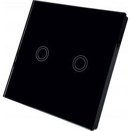 Chytrý vypínač SWITCH 2 kanálový, černý WiFi