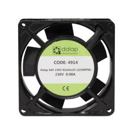 Malý přístrojový ventilátor SAF-230V AC, 92x92x25 mm, 2250 ot./min.