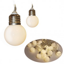 Dekorační LED světelný řetěz - matné žárovky