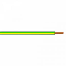 Vodič H07V-U (CY) 6 zelenožlutý