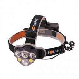 LED čelová nabíjecí svítilna, 550lm, Li-Ion, USB