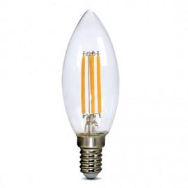 Solight RETRO LED žárovka, svíčka, 4W, E14, 3000K, 440lm - teplá bílá