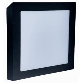 LED panel přisazený FENIX-S 17x17cm, 12W, 2800K, černá