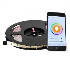 Chytrý LED pásek 5M ovládaný telefonem nebo ovladačem - RGB ovládání barev