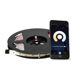 Chytrý LED pásek 5M ovládaný telefonem nebo ovladačem - ovládání bílé barvy