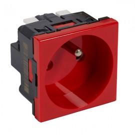 Zásuvka Legrand MOSAIC 230V červená