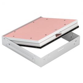 Protipožární revizní dvířka GKF EI60 600 x 600 klička, Stěna