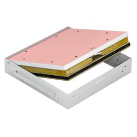 Revizní dvířka protipožární GKF EI45 700 x 700 klička, Strop