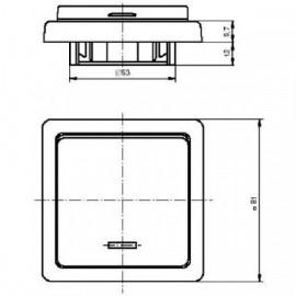 Talířový ventil-anemostat odvodní 125 mm chrom - 99512 - lesklý
