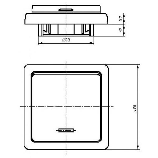Dvojzásuvka TANGO 5512A-2349 D ABB béžová