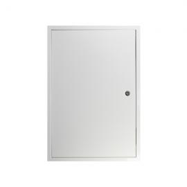 Revizní dvířka kovová RVML 300x600 se zámkem bílá