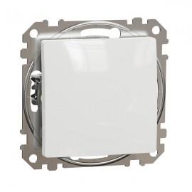 Tlačítko SEDNA Design č.1/0 jednopólové, bílá lesklá