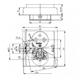 Rámeček ABB TANGO 3901A-B41 D čtyřnásobný svislý