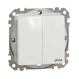 Vypínač SEDNA Design č.5 sériový, bílá lesklá IP44