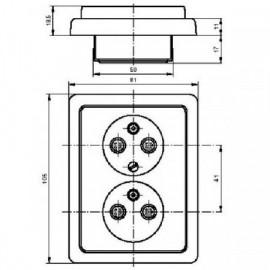 Kryt vypínače ABB Tango 3558A-A652 D dělený béžový