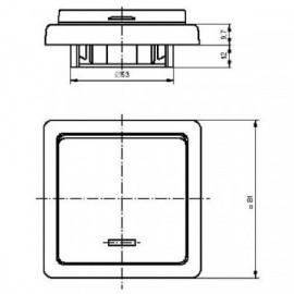 Kryt vypínače s průzorem ABB Tango 3558A-A653 D béžový