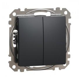 Vypínač SEDNA Design č.5 sériový - lustrový, antracit matná