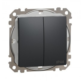 Vypínač SEDNA Design č.5 sériový, antracit matná IP44