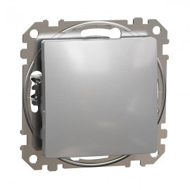 Vypínač SEDNA Design č.7 křížový, aluminium