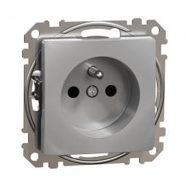 Zásuvka SEDNA Design aluminium
