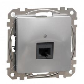 Zásuvka SEDNA Design datová 1x RJ45, aluminium