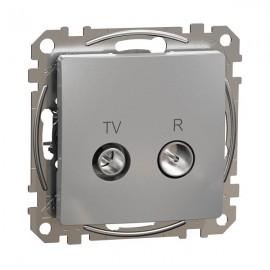 Zásuvka SEDNA Design TV+R koncová, aluminium