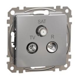 Zásuvka SEDNA Design TV+R+SAT koncová, aluminium