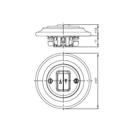 Větrací mřížka do dveří 462x124mm MV450-hnědá