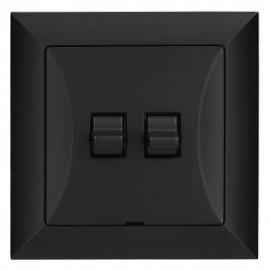 Vypínač RETRO č.5B černá