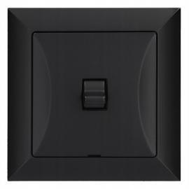 Vypínač RETRO tlačítko černé
