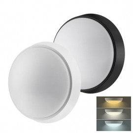 LED svítidlo WO779 s nastavitelnou CCT, 22cm, 18W, 1350lm, 3000-6000K, bílý a černý kryt, IP54