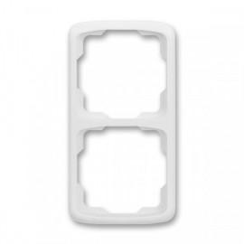 Rámeček ABB TANGO 3901A-B21 B dvojnásobný svislý bílý