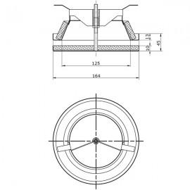 Kovový anemostat univerzální 125 mm TVMI 125