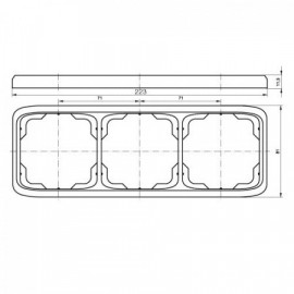 Rámeček ABB TANGO 3901A-B30 B trojnásobný vodorovný bílý