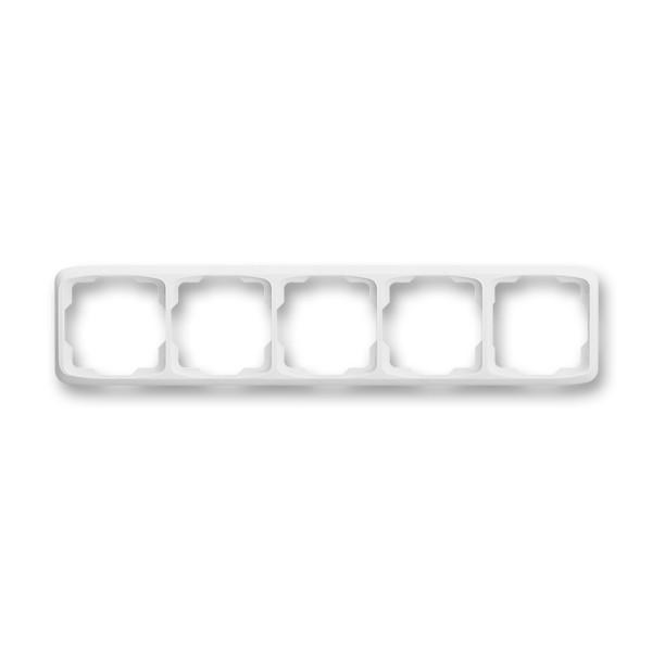 Rámeček ABB TANGO 3901A-B50 B pětinásobný vodorovný bílý
