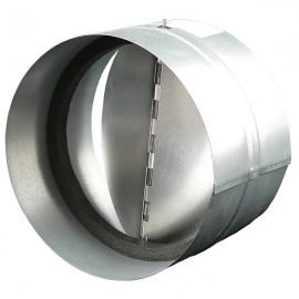 Zpětná klapka 200 mm kovová Zn