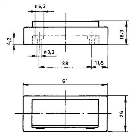 Krabice elektroinstalační KU68 s víčkem a věnečkem 6400-221