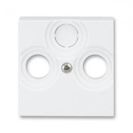 Kryt TV-R-SAT zásuvky ABB LEVIT bílá / ledová bílá 5011H-A00300_03