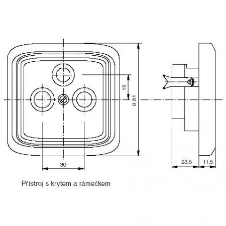 Solight rozbočka P100, 3 x 10A/230V, bílá