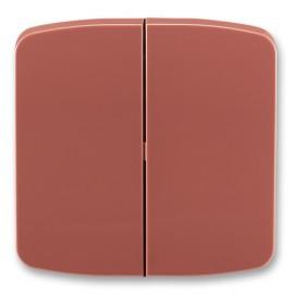 Kryt vypínače ABB Tango 3558A-A652 R2 dělený vřesově červený