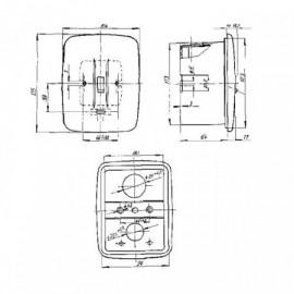 Sporákový vypínač 39563-23 kombinace pod omítku