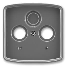 Kryt televizní zásuvky ABB Tango 5011A-A00300 S2 kouřově šedý