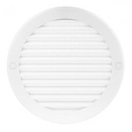 Větrací mřížka kruhová s přírubou Ø 125 mm plastová, bílá