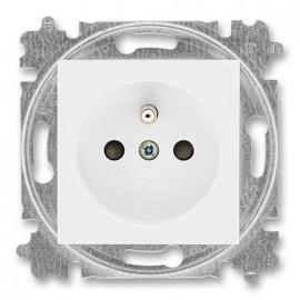 Zásuvka ABB LEVIT s clonkami bílá / bílá 5519H-A02357 03