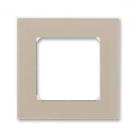 Rámeček ABB LEVIT jednonásobný, macchiato / bílá